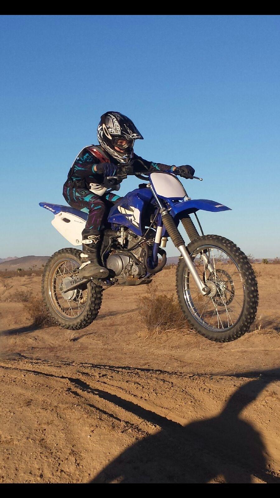 Student doing motorcross