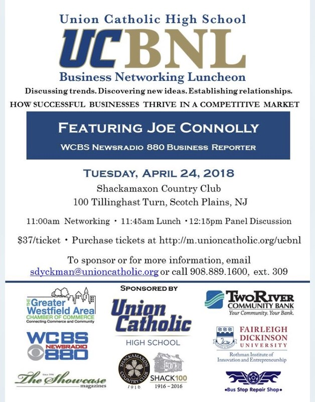 Union Catholic will host fourth annual Business Networking Luncheon on April 24 Thumbnail Image