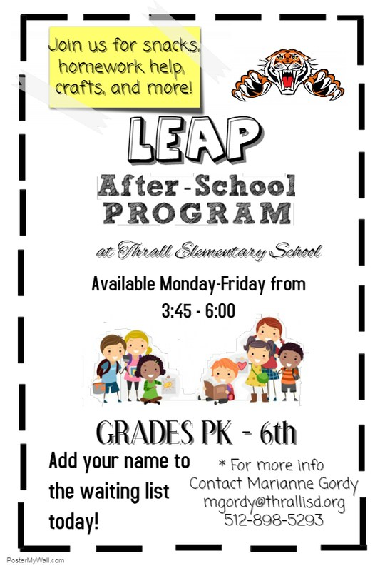 LEAP After School Program 2018-19 Thumbnail Image
