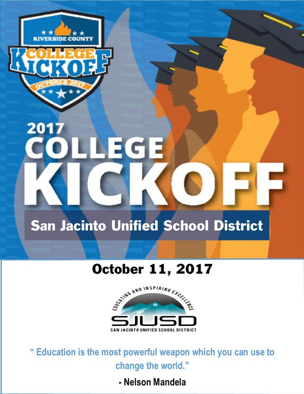 SJUSD College Kickoff event on October 11, 2017