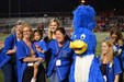 Camino Grove Roadrunner mascot and teachers and Staff Appreciation Night