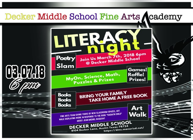 Decker Middle School Literacy Night Thumbnail Image
