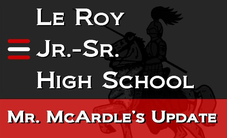 Mr. McArdle's Weekly Update