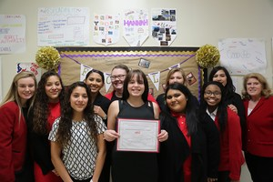 The AHS FCCLA chapter was named the Most Improved Chapter at its regional meeting.