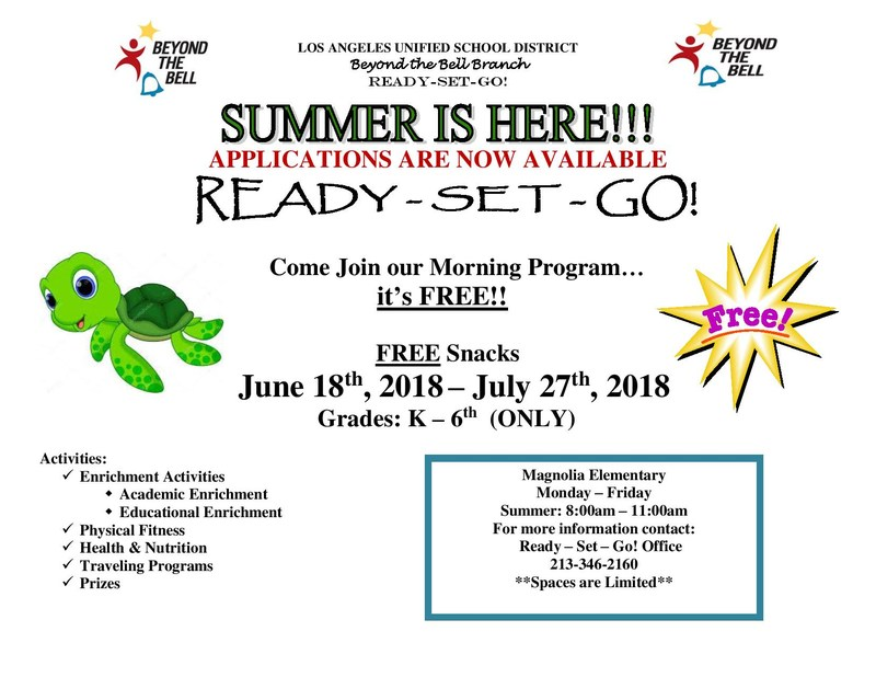 Applications for Ready Set Get Summer Program Available Now! Thumbnail Image