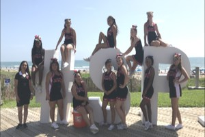Manor High School Cheerleaders at a recent competition.=