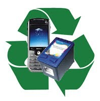 recycle phones and ink logo