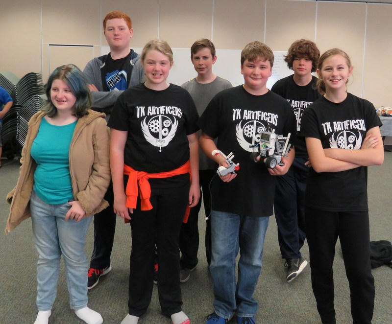 TKMS FIRST Lego Robotics team members are ready for competition.