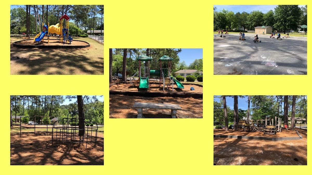 Outdoor play facilities at Tift County Pre-K