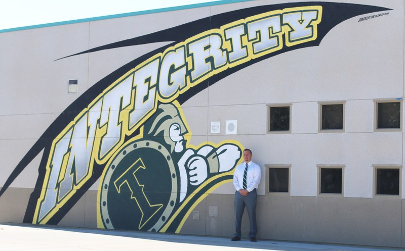 Eric Dahlstrom on the Tahquitz High School Campus
