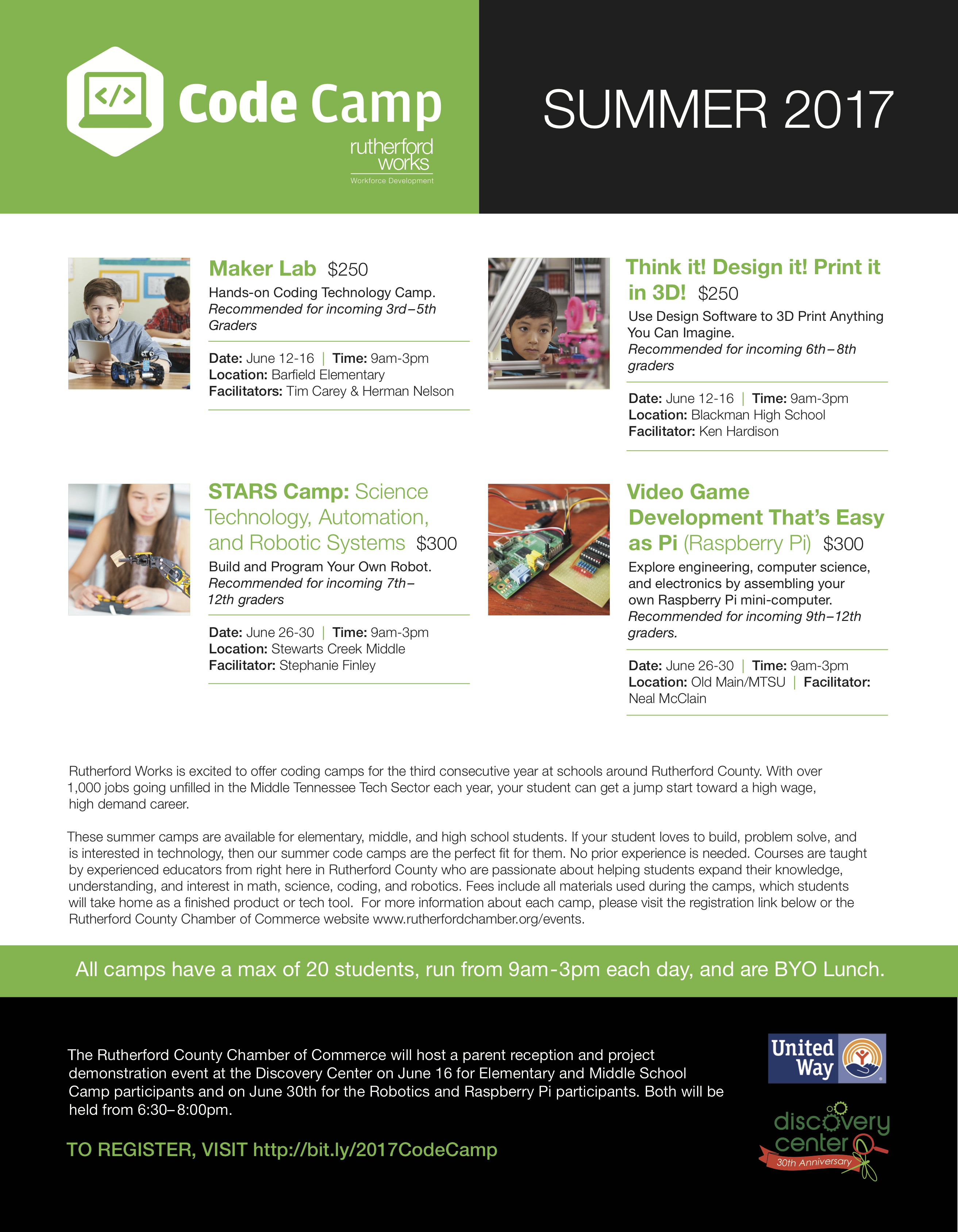 rutherford county schools code camp flyer 2017