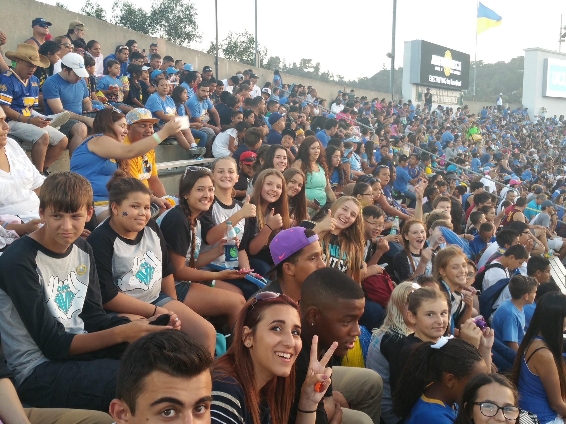 Dartmouth AVID at a UCLA football last fall