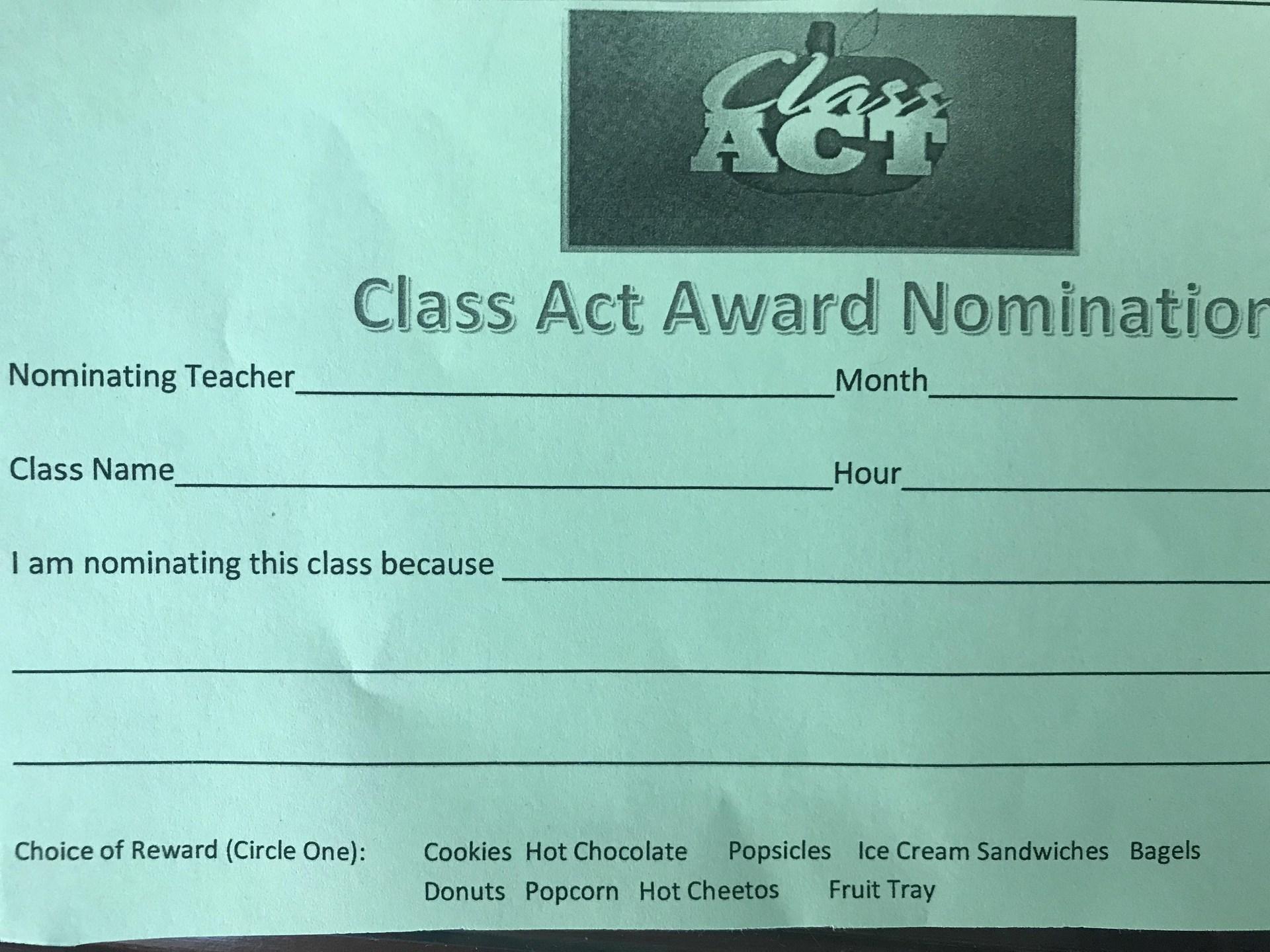 Class Act Award