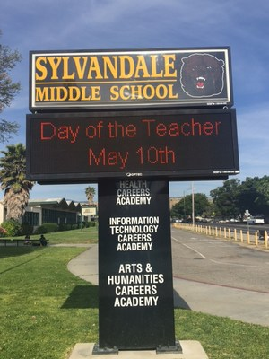 marquee displaying teacher appreciation day