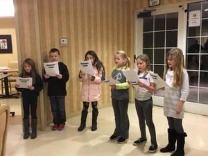 Third Graders singing