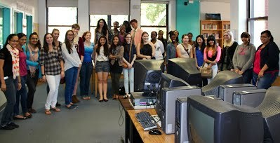 Students Gathered Together in Computer Lab
