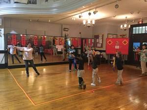 Students practicing Tai Chi