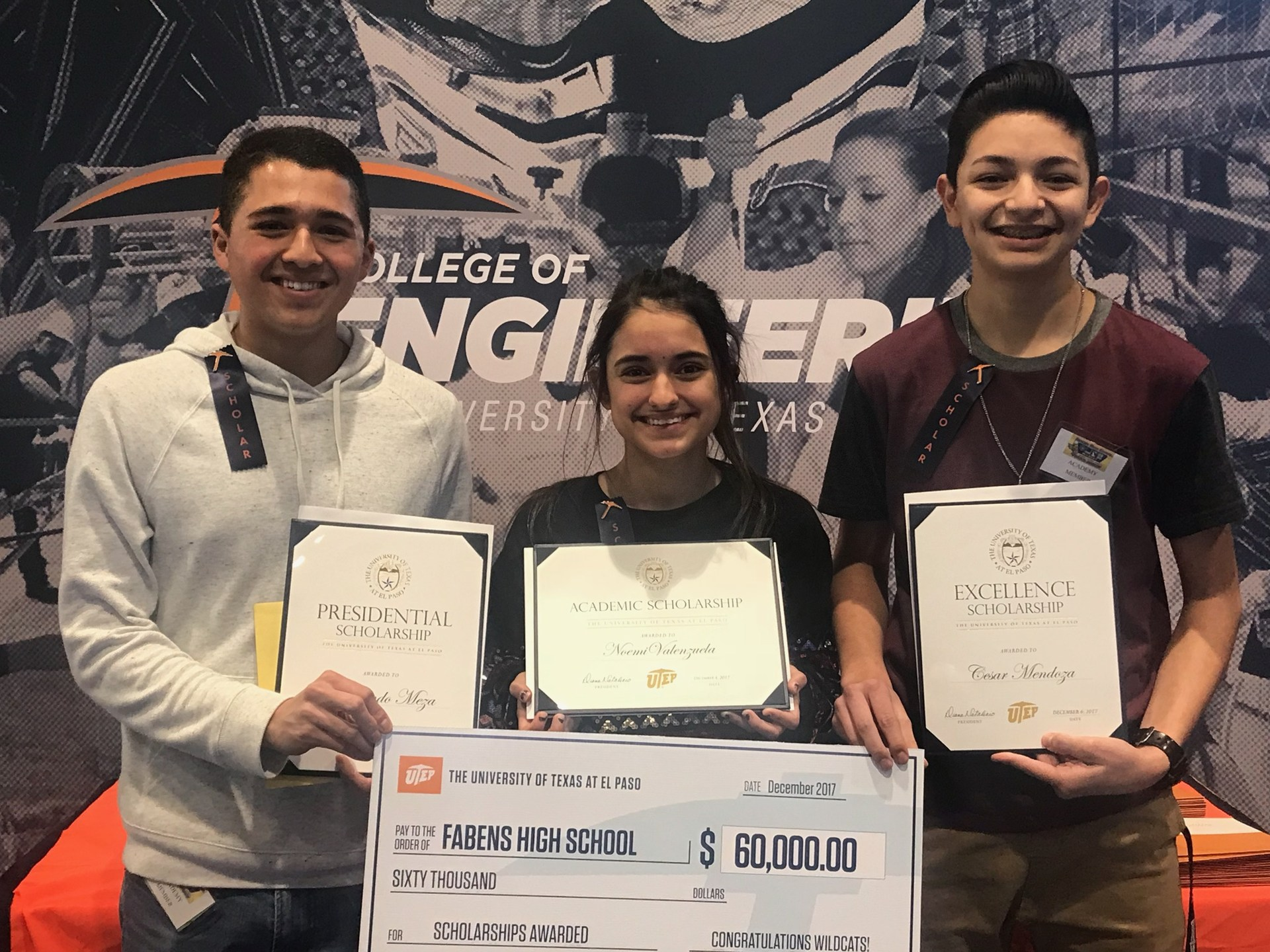 seniors awarded $60,000 in UTEP scholarships