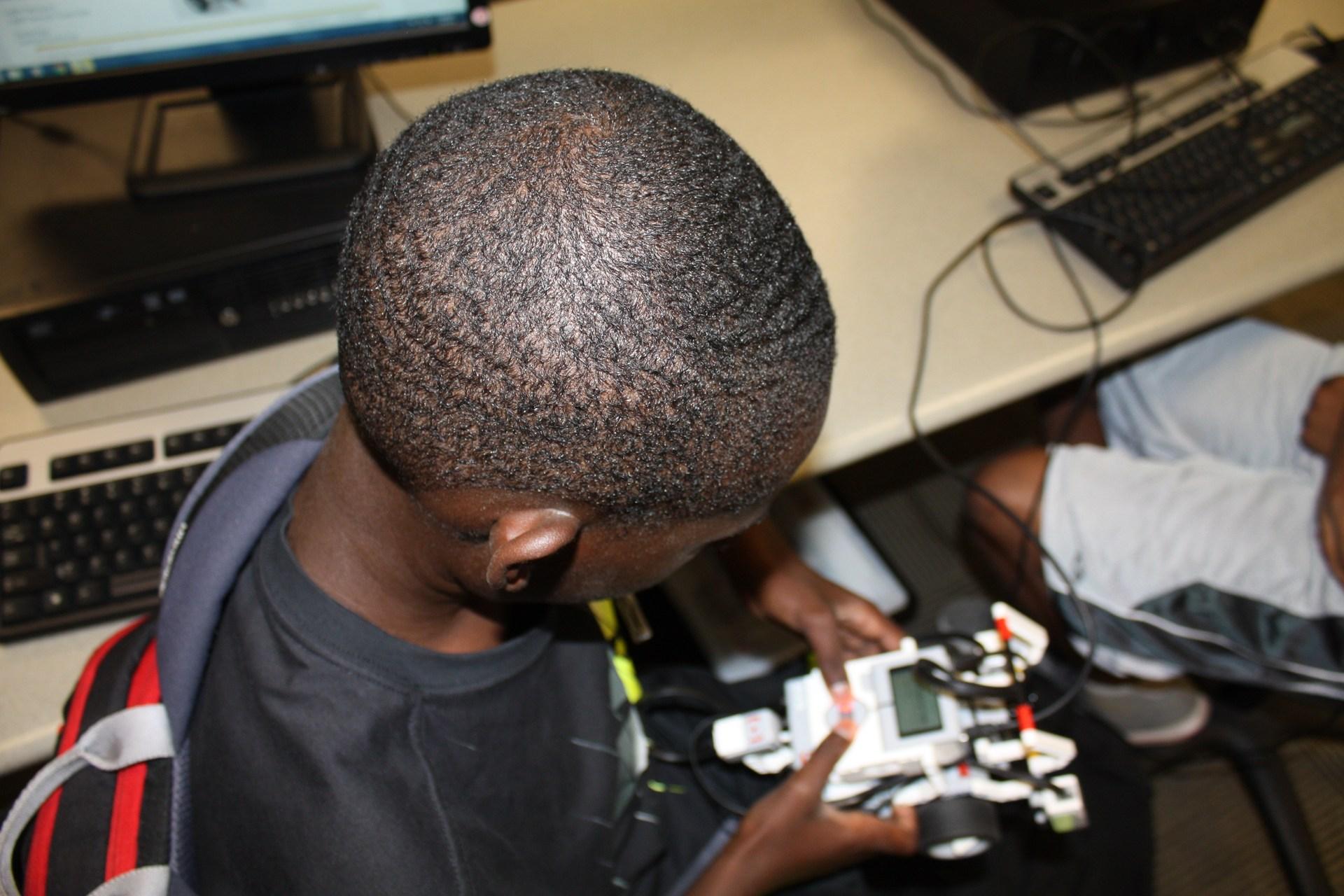 Student at summer Robotics Camp