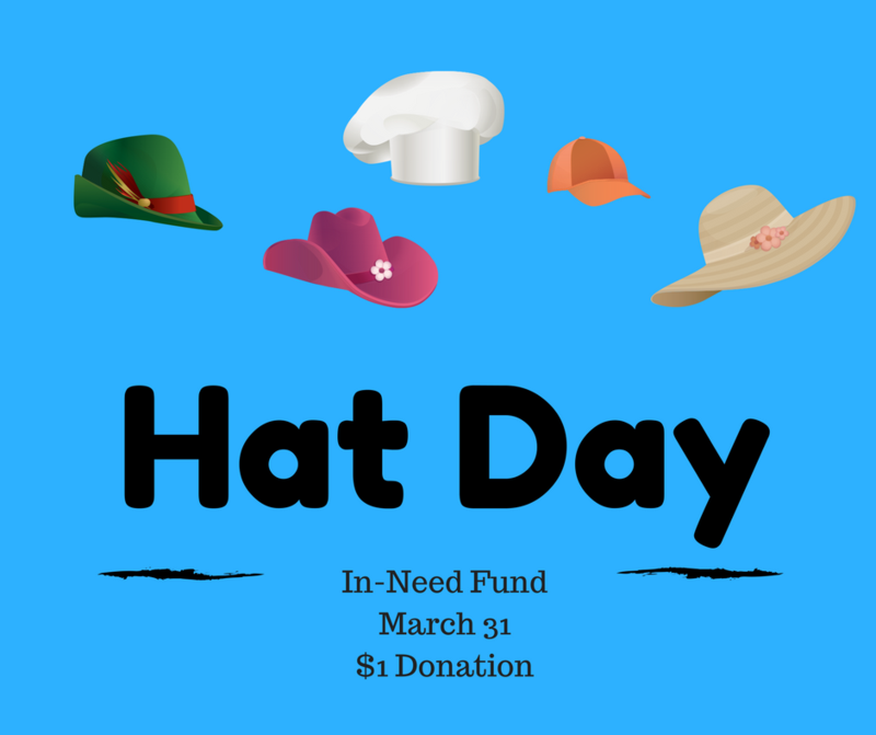 In-Need Hat Day, March 31st, $1 Donation Thumbnail Image