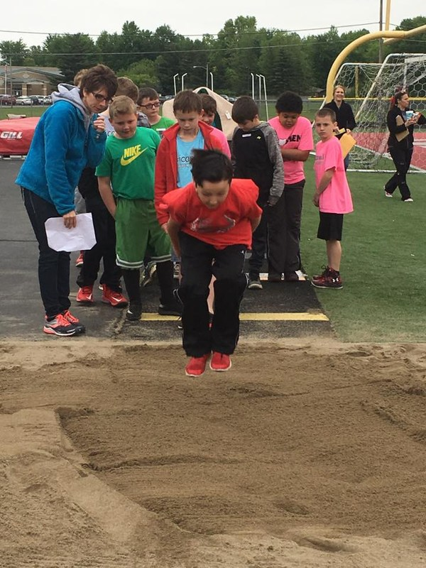 Photo of Spaulding students at Track and Field Day
