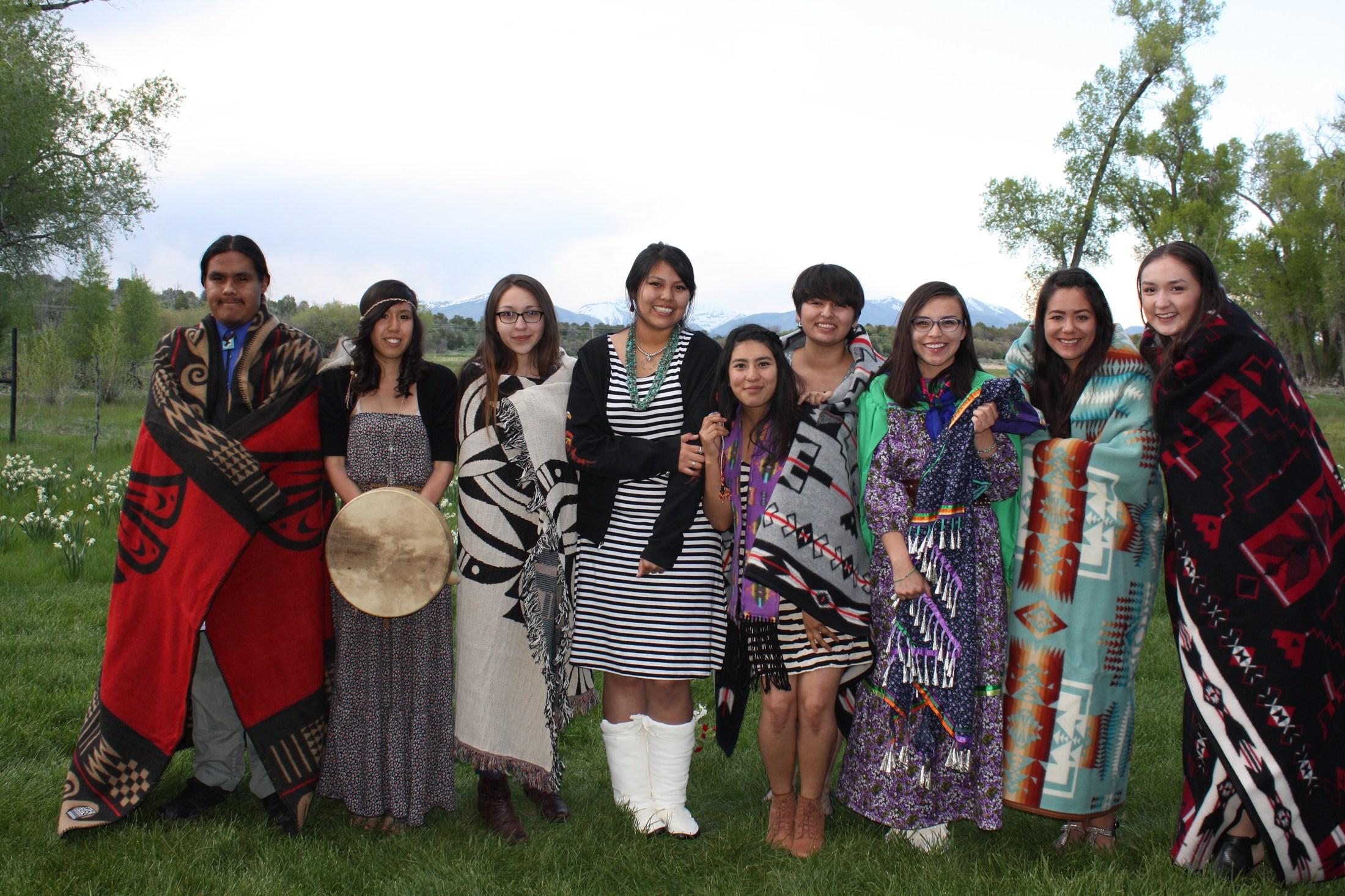 Graduates at the Title VI Native American Graduation Celebration.