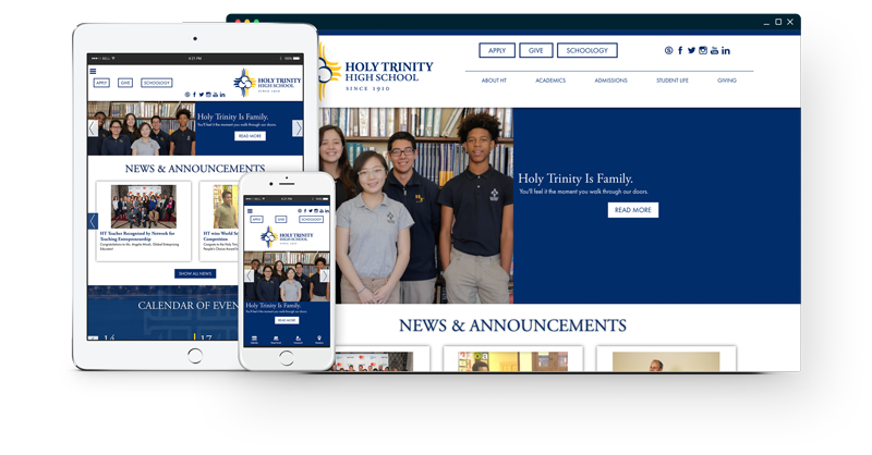 Holy Trinity High School Website