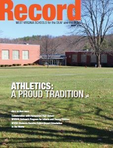 Cover of Winter 2015 Record showing the Physical Education Building