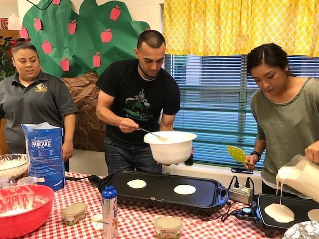 After School Program Staff making Breakfast