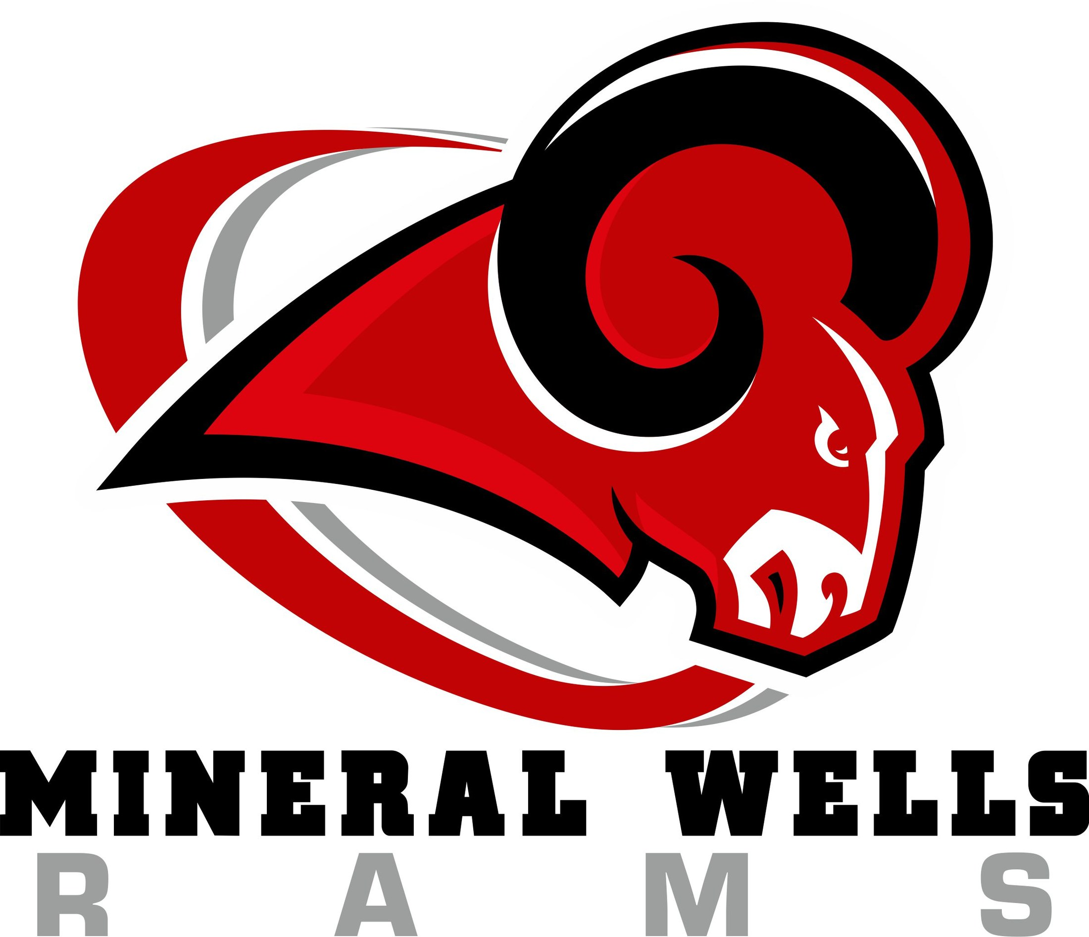 Red and Gray Ram with wording