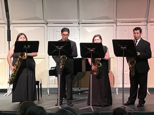 Students performing at the Solo and Ensemble festival