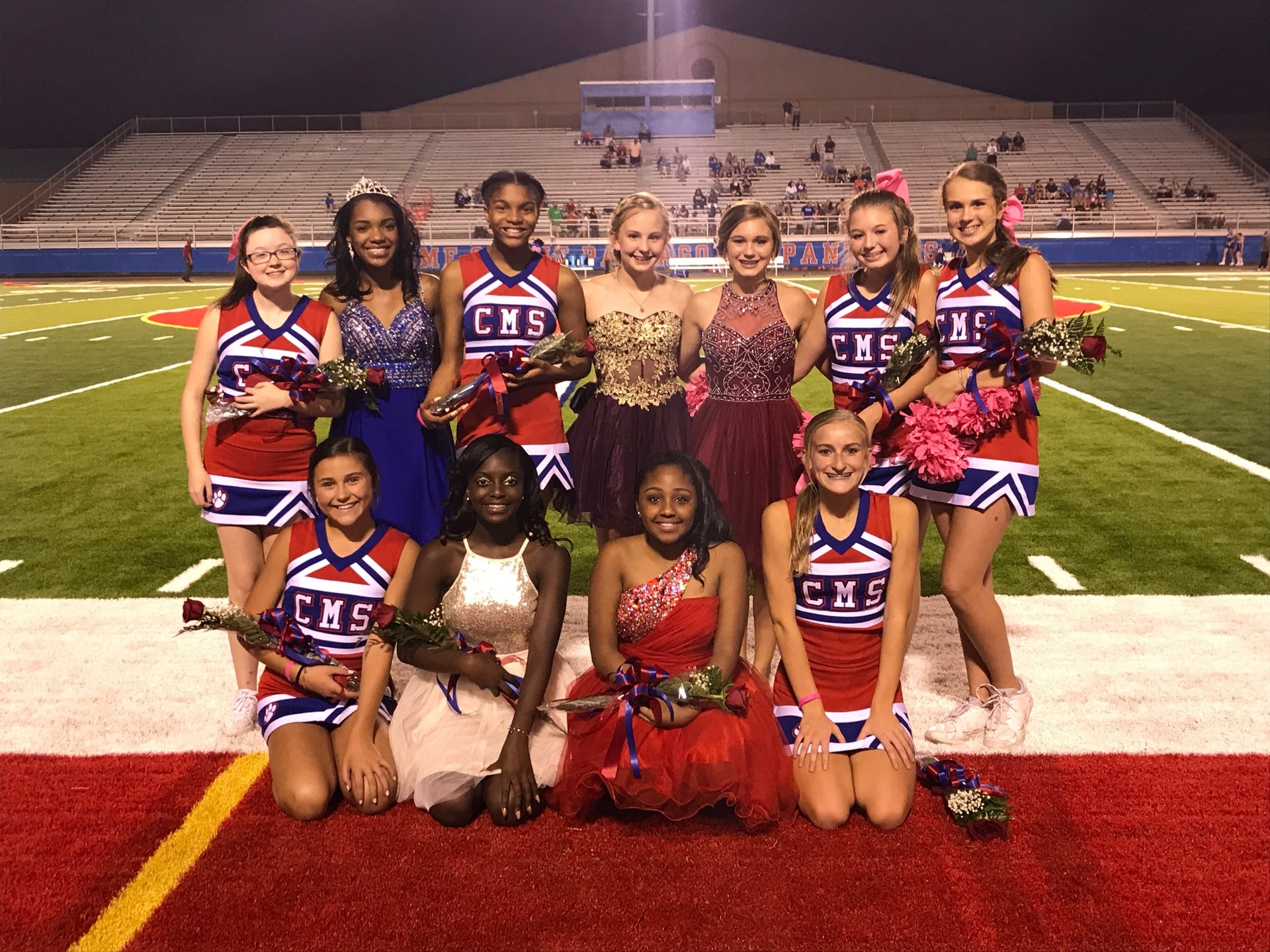 Congratulations to our Cheerleaders on Homecoming Court!