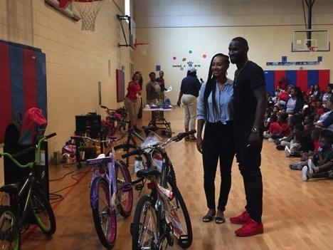 Ricardo Lockette and Keri Hilson surprise students at Robert Harvey Elementary Thumbnail Image