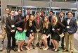 Picture of the SHS DECA team and Mr. Moore at the Virginia Beach DECA conference