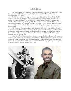 Tuskegee Airman Mr Leslie Edwards bio.jpg