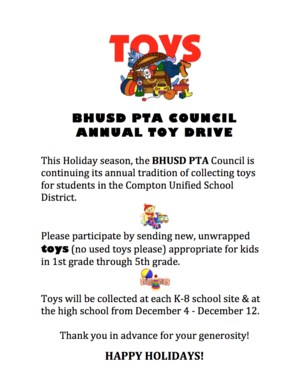 PTA Council Toy Drive