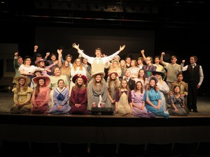 TKHS cast members practice for the upcoming performances of