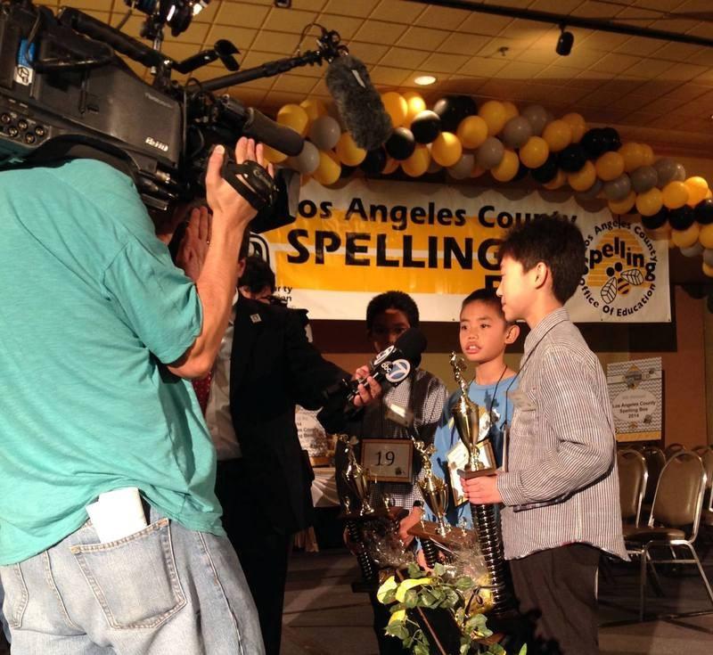 Camera Crew Covering Spelling Bee