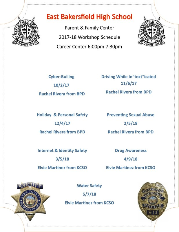 schedule of presentations for BPD