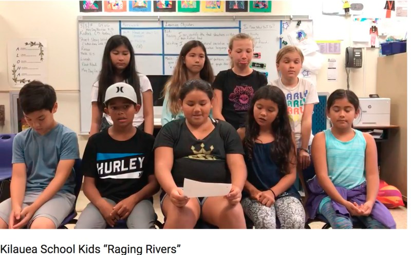5th Graders sing