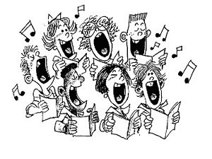 drawing of a choir