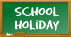 School holiday image of chalkboard