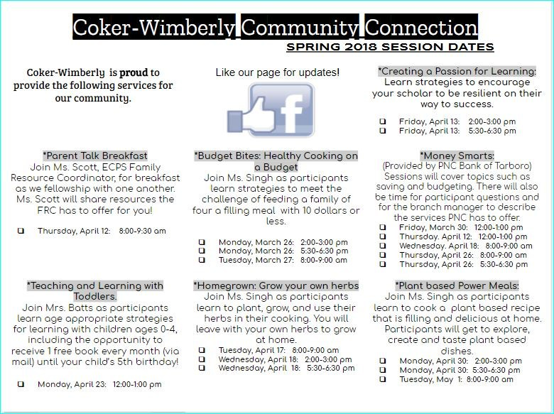 Our Coker-Wimberly Community Connection Involves YOU! Thumbnail Image