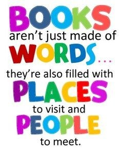 Books are more than words, they are places
