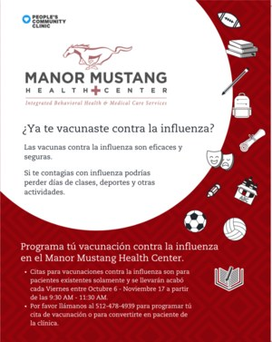 Flu shot poster in Spanish =