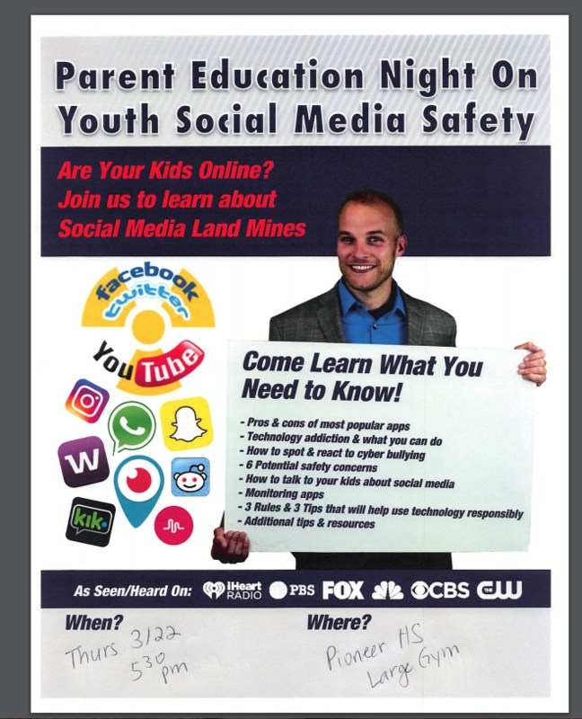 Parent Education Night On Youth Social Media Safety Featured Photo