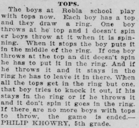 Sacramento Union Story - Robla School - Tops article screenshot