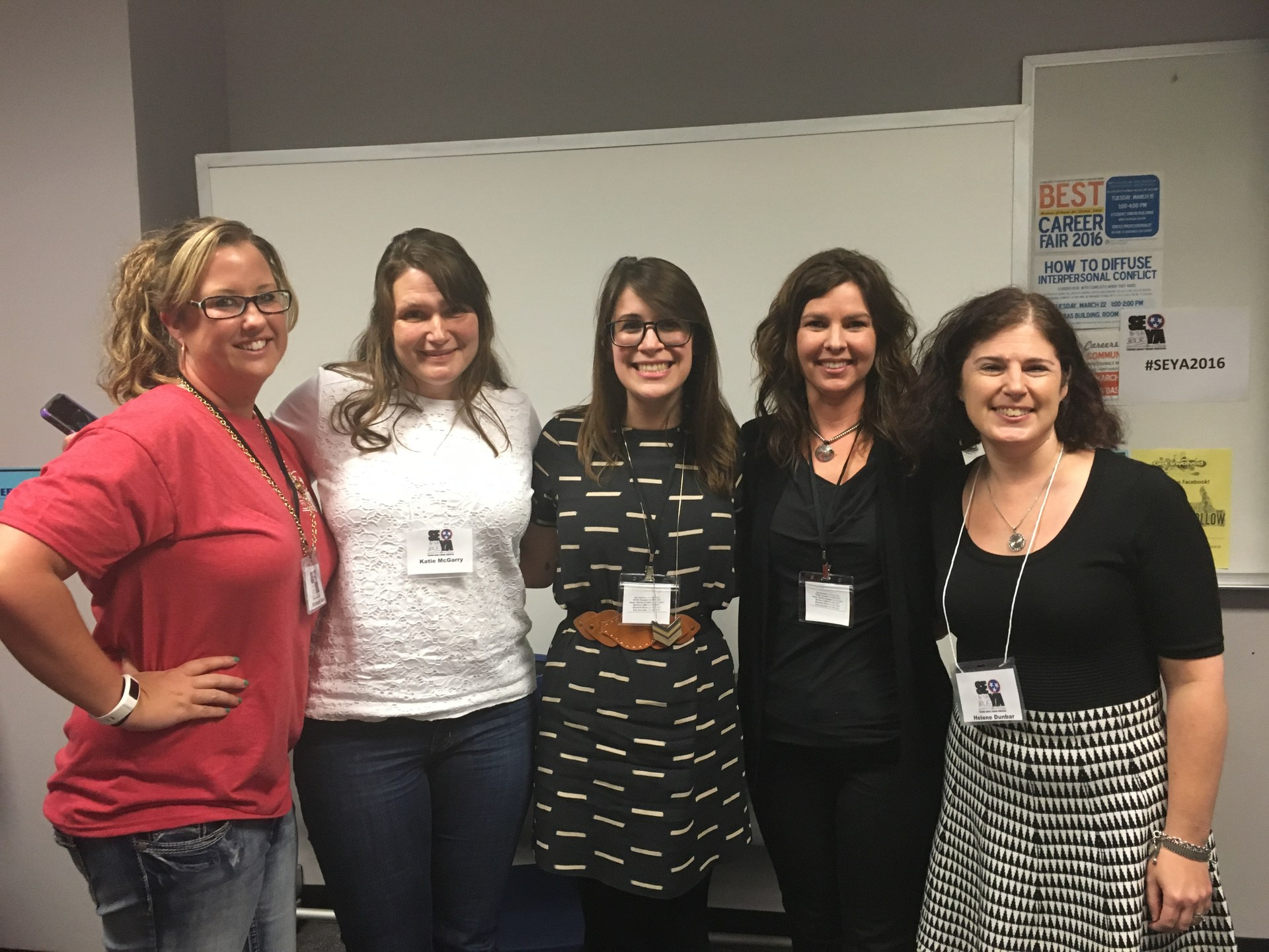 Ms. Rein with authors at SEYA 2016