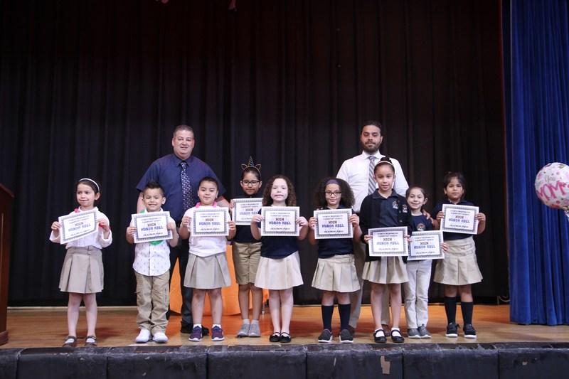 First Grade honor roll recipients