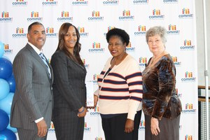 Photo: Lancaster ISD Superintendent and School Board Members at the Commit! Awards Reception